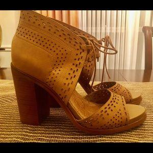 Brand new 1. State tie up bootie heels.